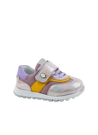 Kids A More Emma Tek Cırtlı Deri Ve Air File Detaylı Kız Bebek Sneaker  Lila